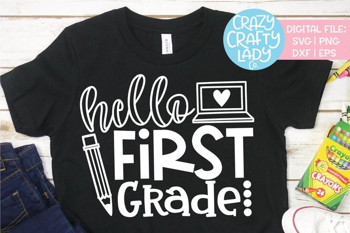 Hello First Grade SVG DXF EPS PNG Cut File