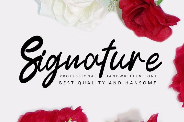Signature - Modern Handwritten Font