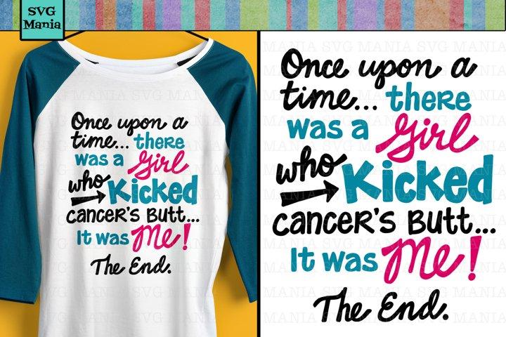 Cancer Survivor Saying SVG File, Kicked Cancer Saying SVG
