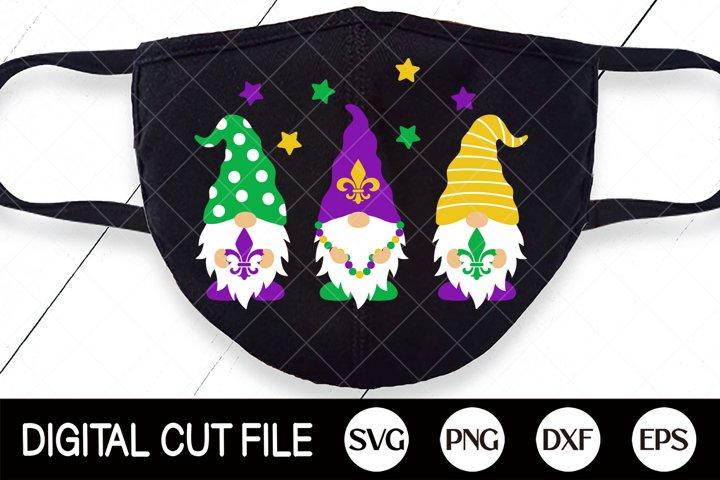 Mardi Gras Svg, Gnome Cut File, Mardi Gras Mask, Gnomies Dxf
