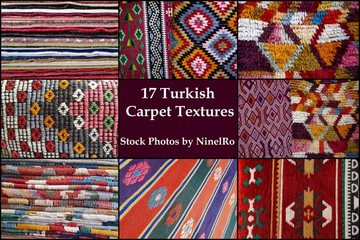 17 Vintage Turkish Carpet photo texture backgrounds