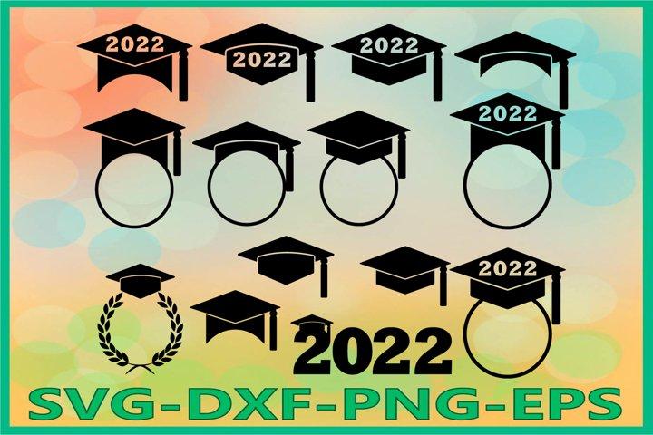 Graduation 2022 SVG, Graduation Hat, Graduation Caps