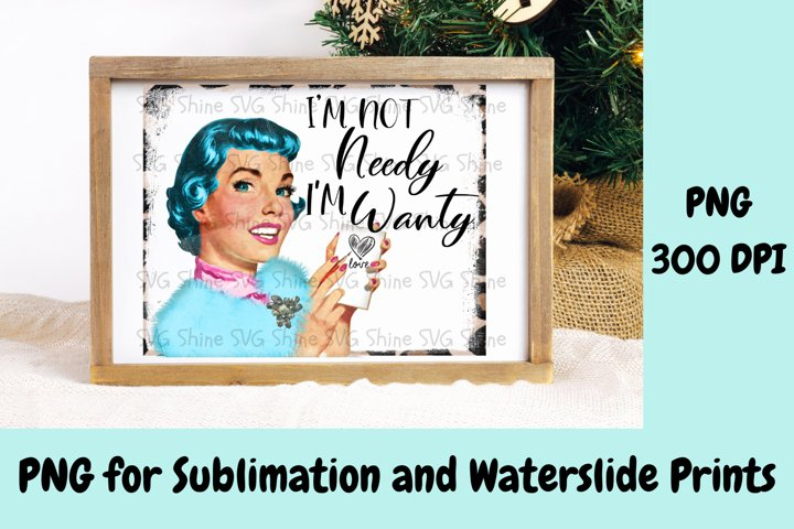 Funny Retro PNG Sublimation Printable File