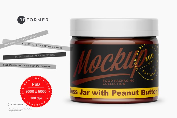Hazelnut Spread Mockup 300ml