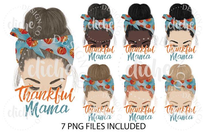 Thankful Mama Fall Sublimation Design Bundle
