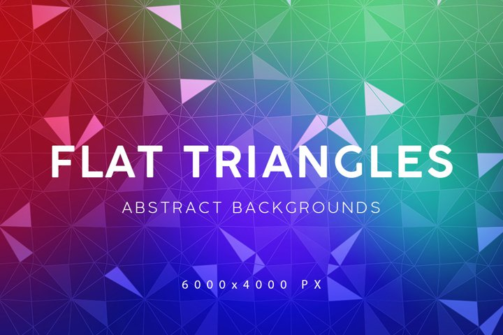 Flat Triangles Backgrounds