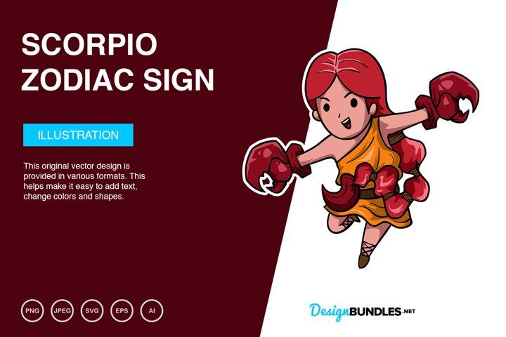 Scorpio Zodiac Sign Vector Illustration