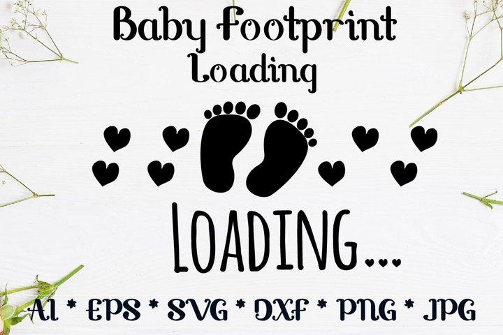 Baby Footprint loading svg design cut file