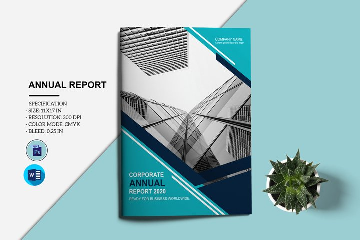Annual Report Template, Ms Word & Photoshop Template