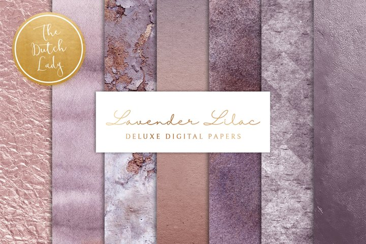 Digital Backgrounds & Papers - Lavender and Lilac