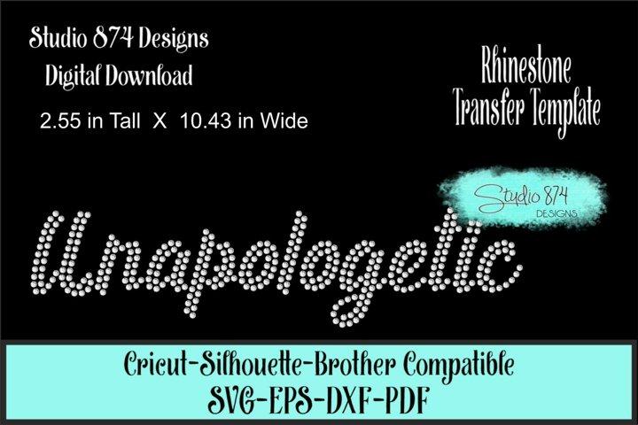 Unapologetic Rhinestone SVG Template