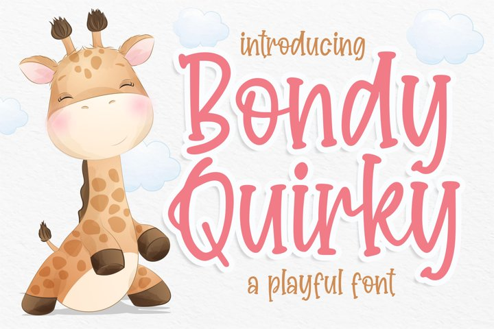 Bondy Quirky Playful Font