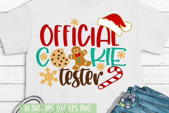 Merry Christmas svg, Official Cookie Tester, Cricut Files