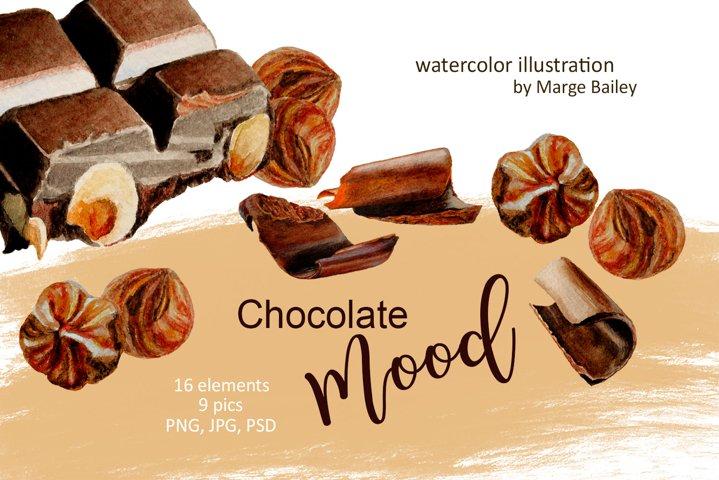 Watercolor Chocolate Mood