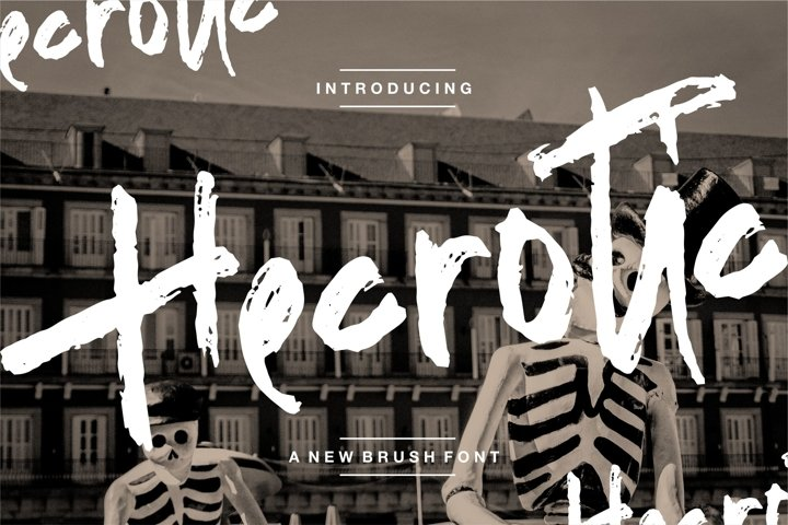Hecrotic - A New Brush Font