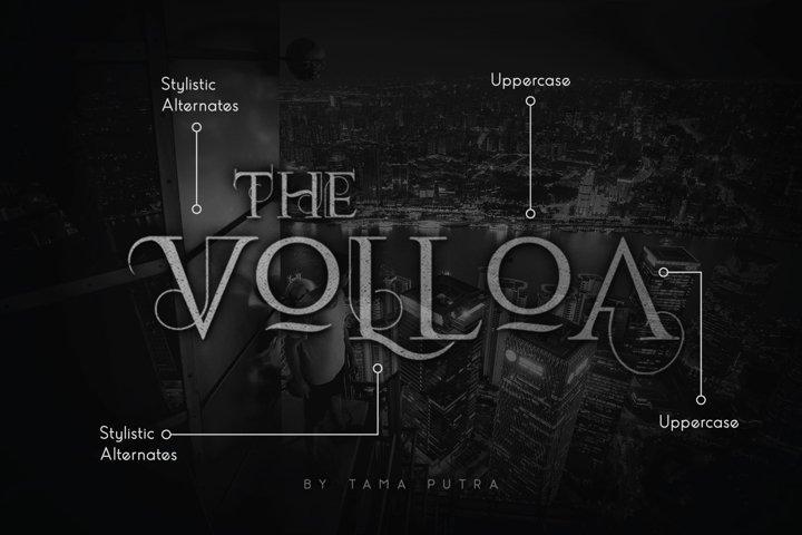 Volloa Decorative Serif Typeface