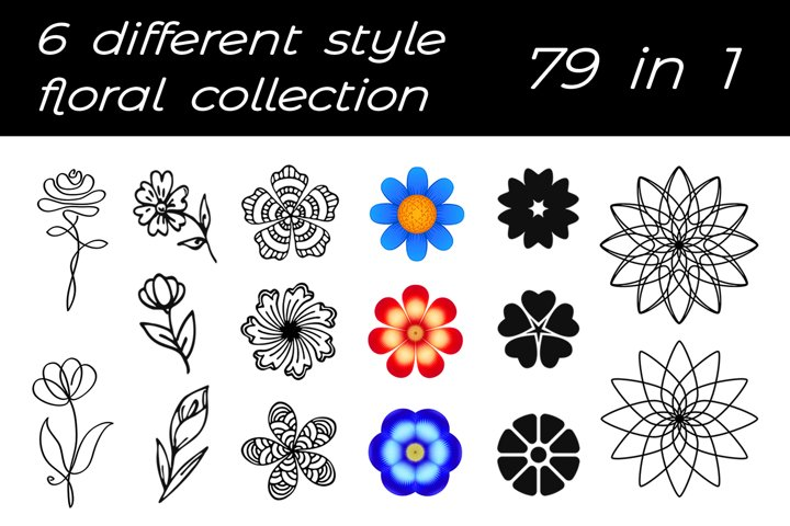 Big floral collection