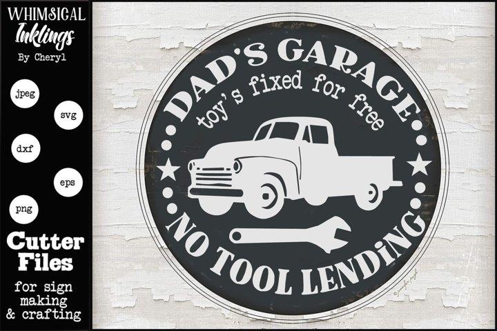 Dads Garage 9 SVG