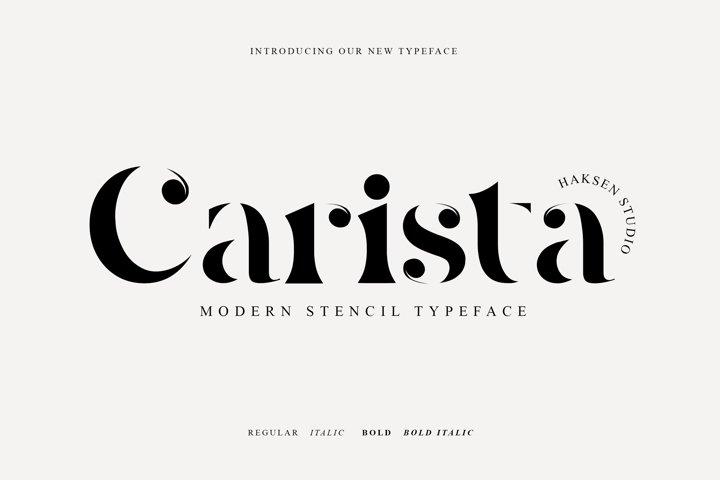 Carista The Modern Serif Family