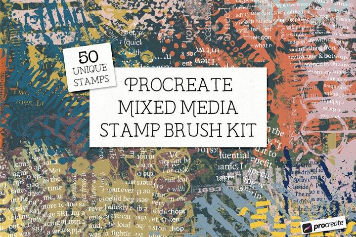 Procreate Mixed Media Stamp Brushes
