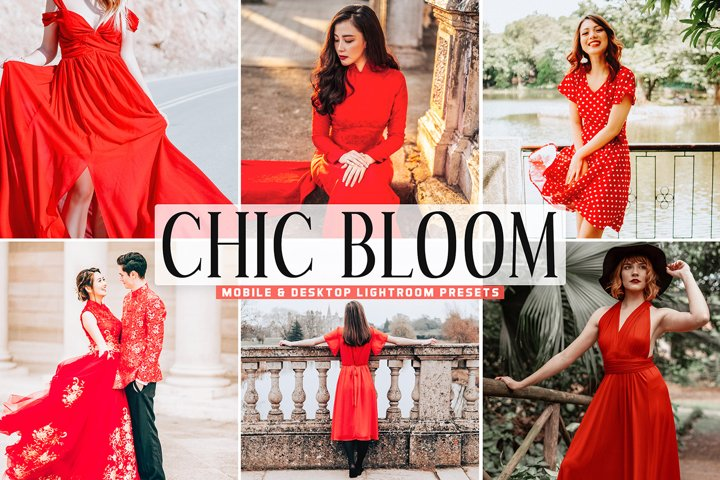 Chic Bloom Mobile & Desktop Lightroom Presets