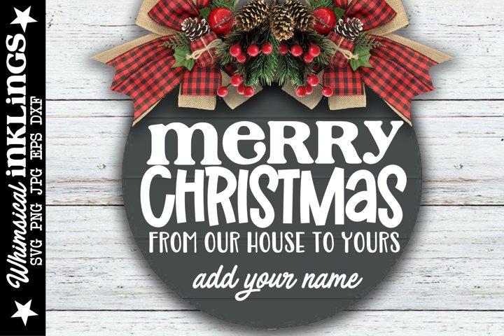 Merry Christmas-Round Christmas SVG