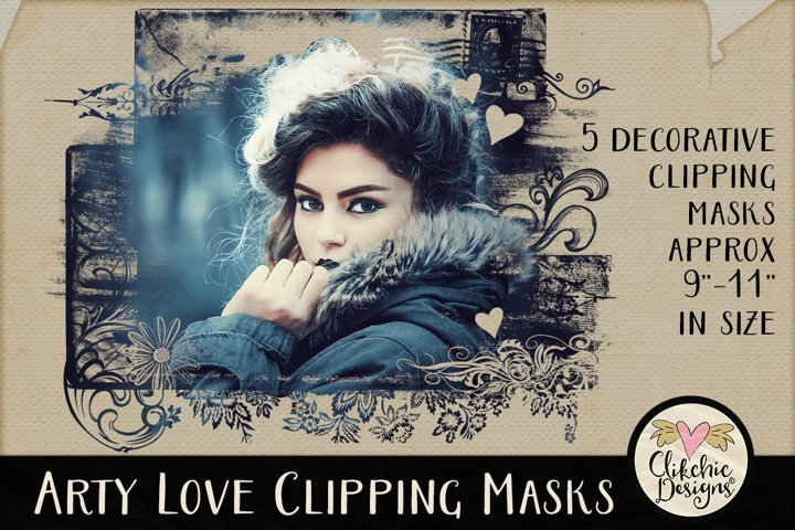 Clipping Masks - Arty Love Photoshop Masks & Tutorial