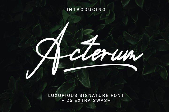 Acterum Signature Font - 26 Extra Swash