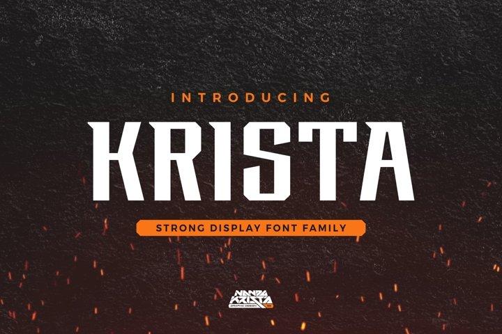 KRISTA | Display Font