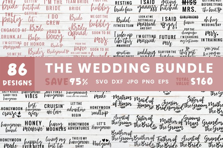 The Ultimate Wedding Bundle | Wedding Design Svg Files