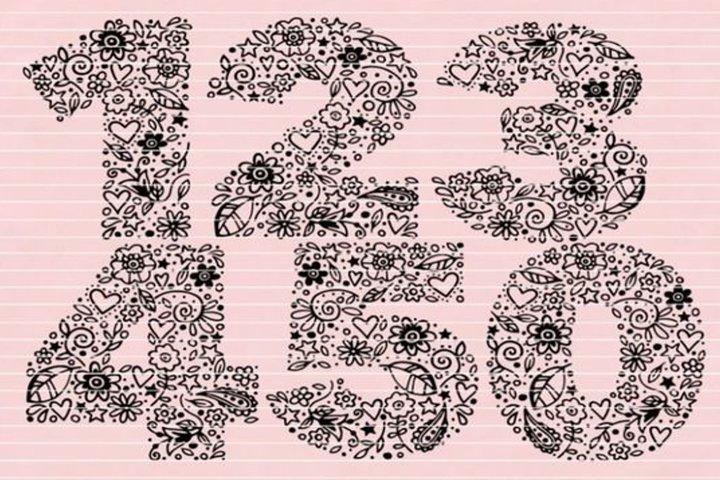 Numbers 1-5 SVG DXF EPS PDF PNG JPG