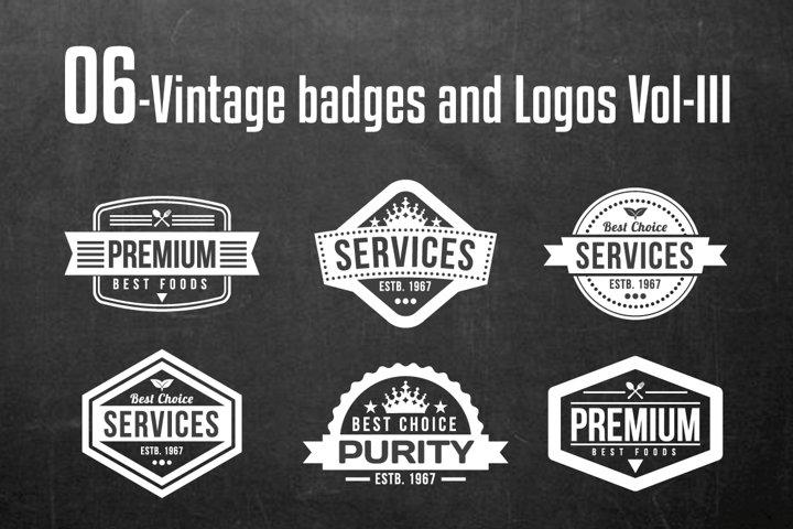 Vintage Badges and Logos Vol-3