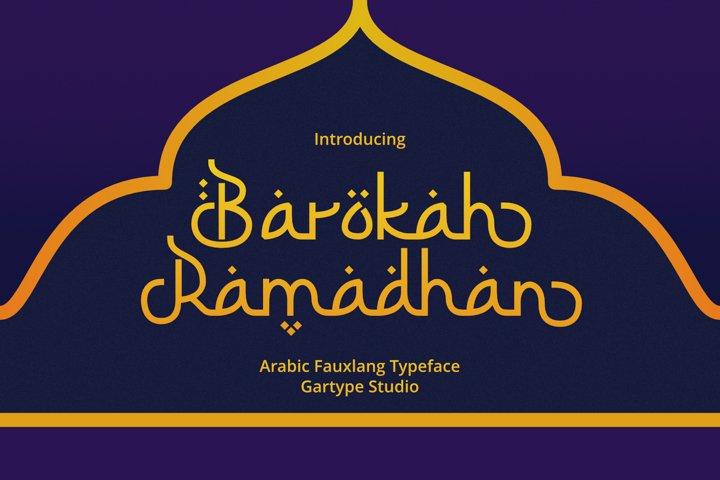 Barokah Ramadhan - Arabic Fauxlang Font // Web Font