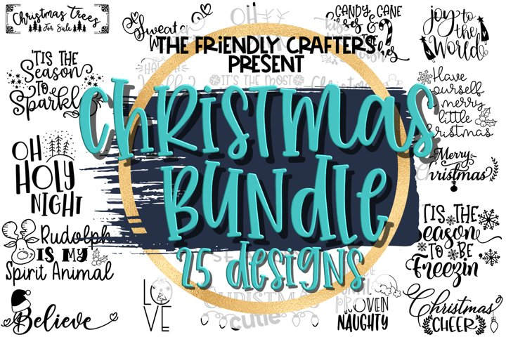 Christmas Bundle - 25 Christmas Cut Files