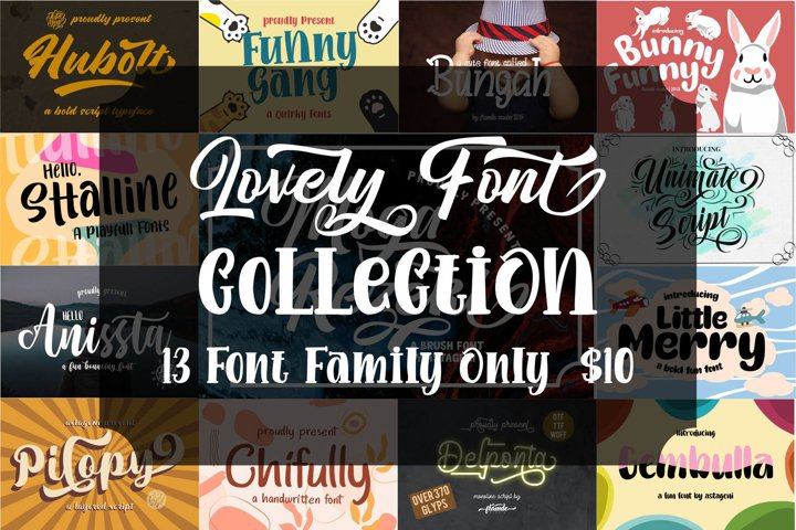 Lovely Font Collection