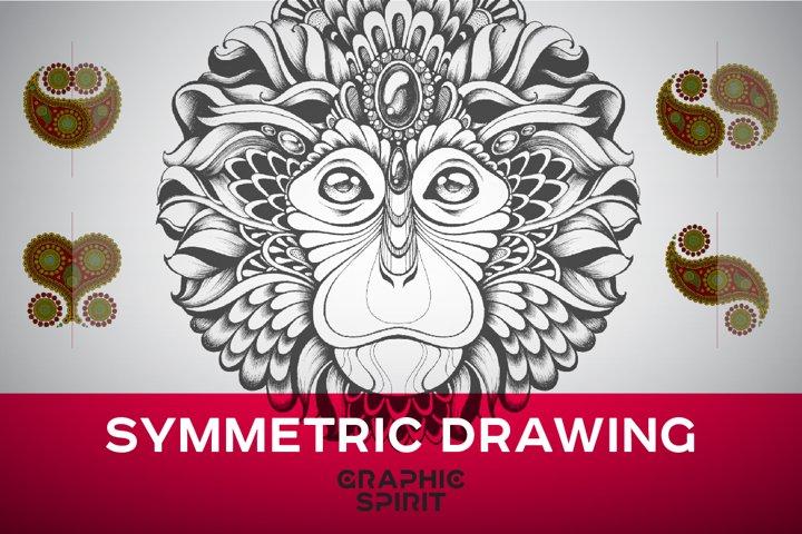 Symmetric Drawing Ai Templates example