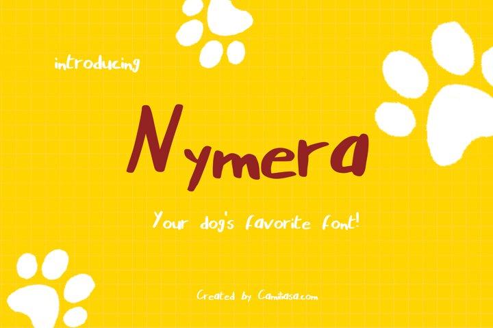 Nymera - A nice and bold handwritten script font !