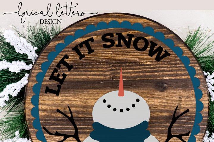 SALE! Let It Snow Snowman Ornament SVG Cut File LL089E example 2