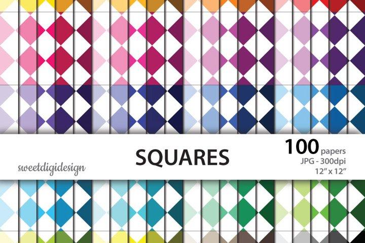 Rainbow squares seamless background