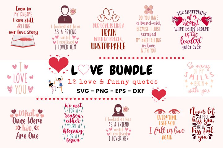 Love Bundle 12 Love Funny Quotes
