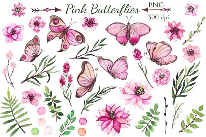 Pink Butterflies example 1
