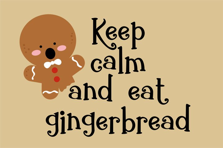 ZP Gingerbread Cake - Free Font of The Week Design2