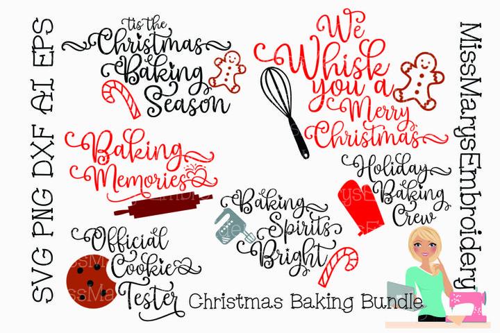 Christmas Baking Bundle Saying SVG Cutting File PNG DXF AI