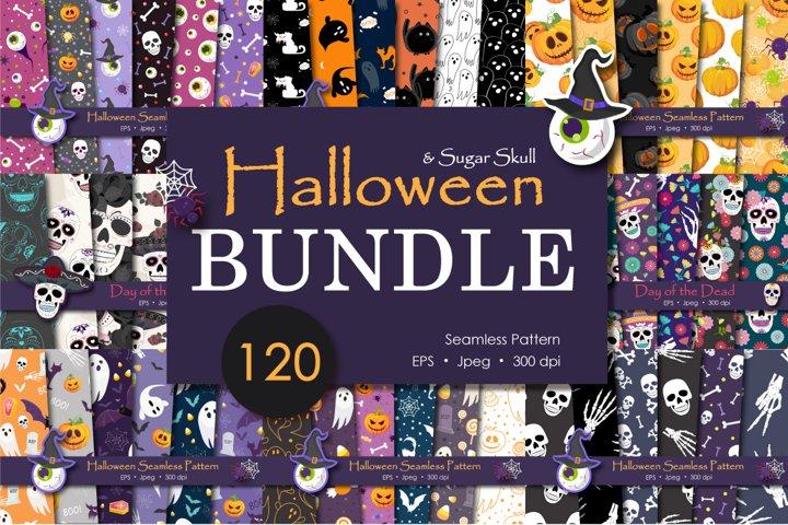 Bundle Halloween Seamless Pattern