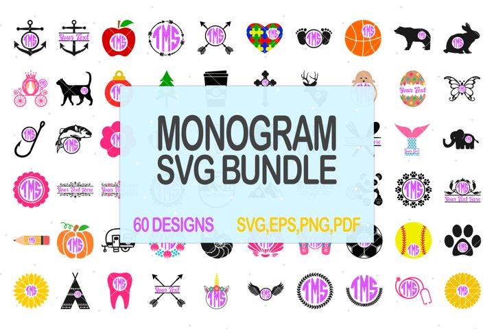 Monogram Svg Bundle, Svg Bundle, Svg Sale, Svg Discount, Svg