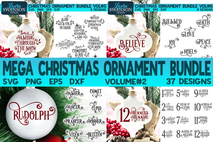 Mega Christmas Ornament Bundle Vol#2 | Christmas SVG Bundle