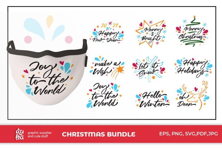 Christmas Mask design - Bundle