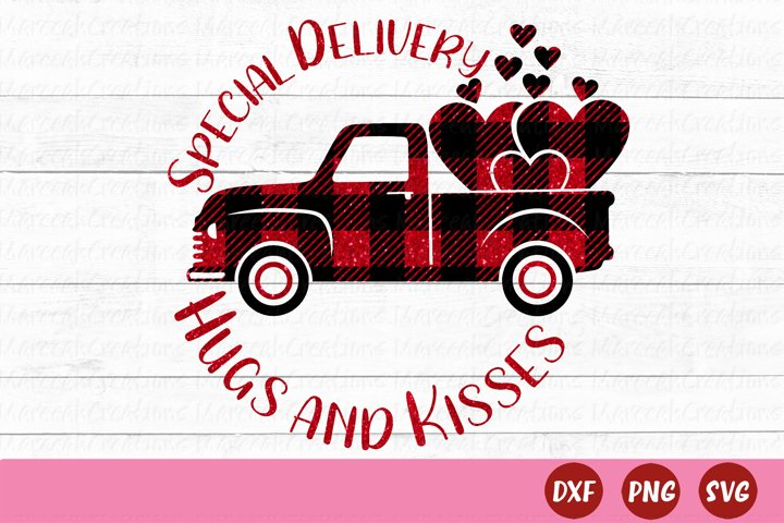 Valentines Day Buffalo Plaid Red Truck SVG   Red Truck SVG