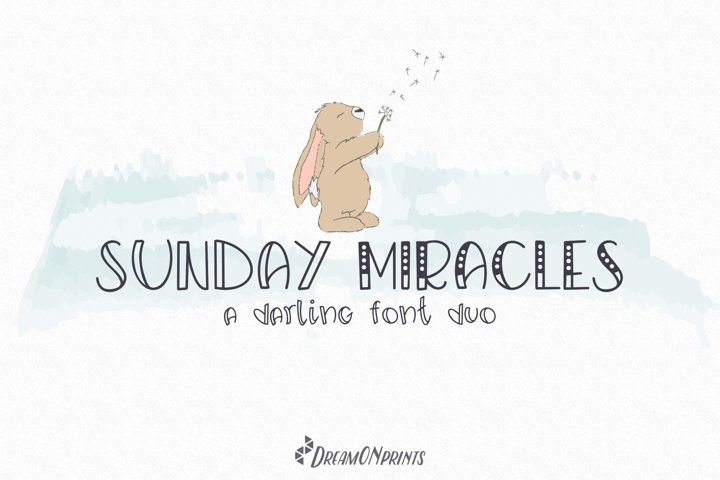 Sunday Miracles Font Duo - Free Font Of The Week