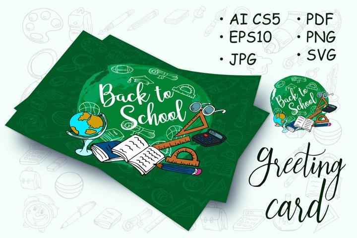 Welcome back to school. Design poster, flyer. School